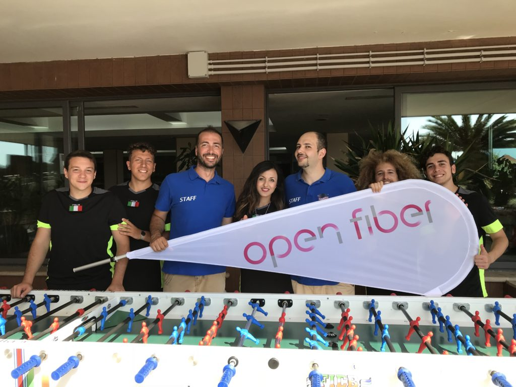 Team Building Open Fiber by Saltimbanco animazione